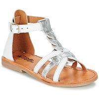 Shoes Girl Sandals Citrouille et Compagnie GITANOLO White / Silver