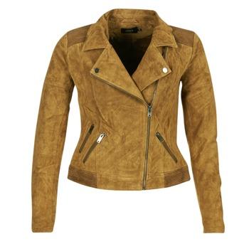 Clothing Women Leather jackets / Imitation leather Only JOSEPHINE COGNAC