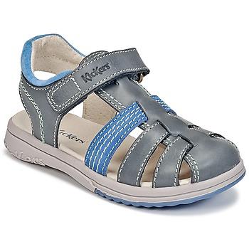 Shoes Boy Sandals Kickers PLATINIUM Blue / Dark / Blue