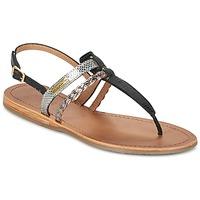 Shoes Women Sandals Les Tropéziennes par M Belarbi BARAKA Black / Silver
