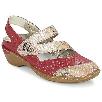 Shoes Women Sandals Rieker KOLIPEDI Red / Gold