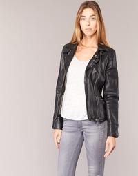 Clothing Women Leather jackets / Imitation leather Oakwood VIDEO Black