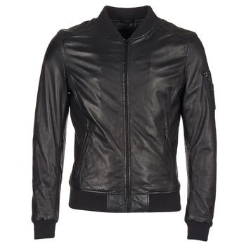 Clothing Men Leather jackets / Imitation leather Oakwood 62354 Black