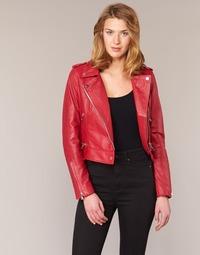 Clothing Women Leather jackets / Imitation leather Oakwood YOKO Red