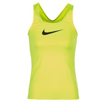 Clothing Women Tops / Sleeveless T-shirts Nike NIKE PRO COOL TANK Yellow