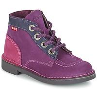 Shoes Girl Mid boots Kickers KICK COLZ Purple / MARINE / Pink