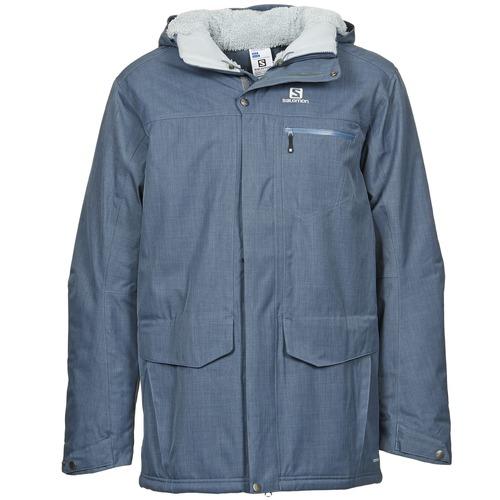 Clothing Men Parkas Salomon SKYLINE Blue