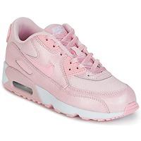 Shoes Girl Low top trainers Nike AIR MAX 90 MESH SE PRESCHOOL Pink