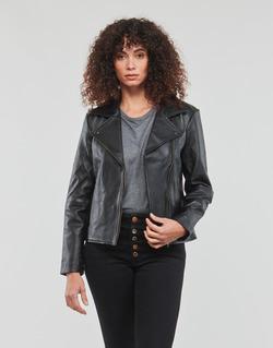 Clothing Women Leather jackets / Imitation leather Betty London IGADITE Black