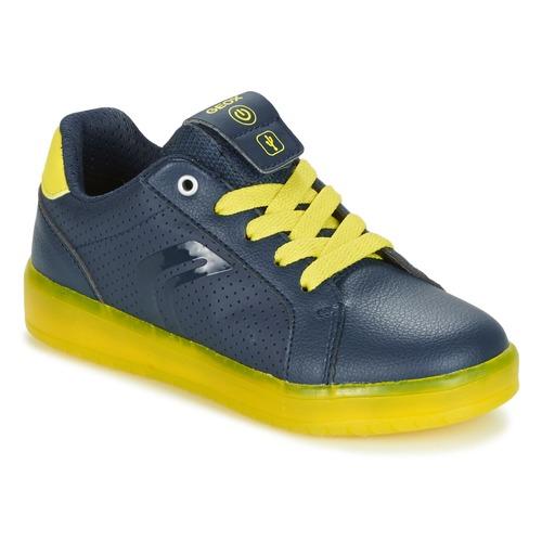 Shoes Boy Low top trainers Geox J KOMMODOR B.B Marine / Yellow