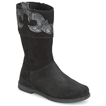 Shoes Girl High boots Geox J SHAWNTEL G. C Black