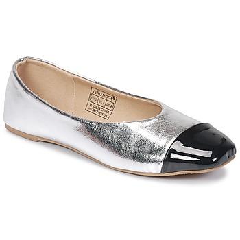 Shoes Women Flat shoes Vero Moda STAR BALLERINA Silver / Black