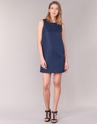 Clothing Women Short Dresses Casual Attitude GADINE Marine