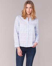 Clothing Women Shirts Casual Attitude GAMOU Blue / White