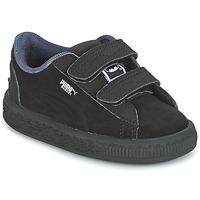 Shoes Boy Low top trainers Puma SUEDE BATMAN V INF Black / Batman
