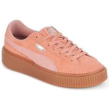 Shoes Women Low top trainers Puma Suede Platform Core Gum Pink