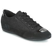 Shoes Women Low top trainers Geox D NEW MOENA Black