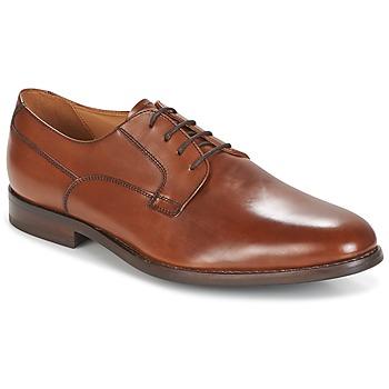 Shoes Men Derby Shoes Geox U HAMPSTEAD Brown