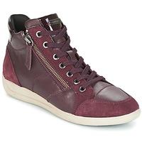 Shoes Women Hi top trainers Geox D MYRIA BORDEAUX