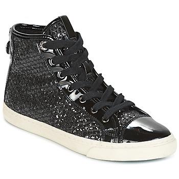 Shoes Women Hi top trainers Geox D NEW CLUB Black