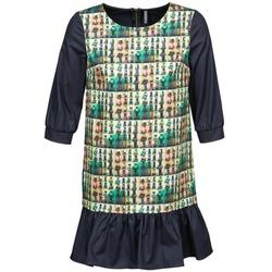 Clothing Women Short Dresses Naf Naf ECAPS Black / Multicolour