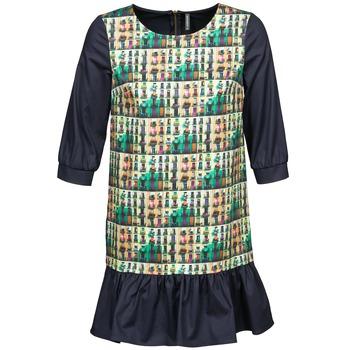 Clothing Women Short Dresses Naf Naf ECAPS Black / Multicoloured