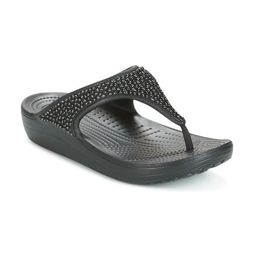 Shoes Women Flip flops Crocs SLOANE Black