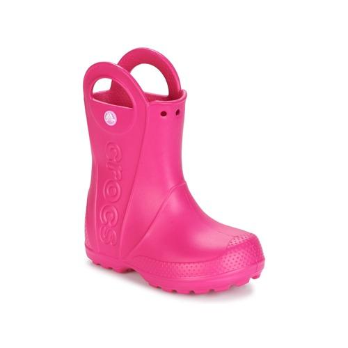 Shoes Girl Wellington boots Crocs HANDLE IT RAIN BOOT Pink
