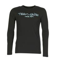 Clothing Men Long sleeved tee-shirts Teddy Smith TICLASS 3 ML Black