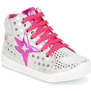 Shoes Girl Hi top trainers Agatha Ruiz de la Prada FLOW Silver