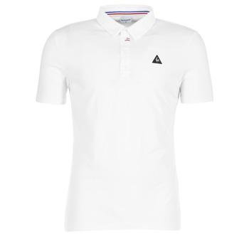Clothing Men short-sleeved polo shirts Le Coq Sportif LCS TECH POLO White