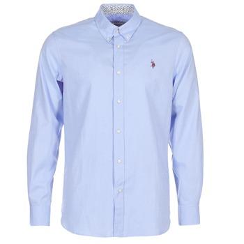 Clothing Men long-sleeved shirts U.S Polo Assn. CALE Blue