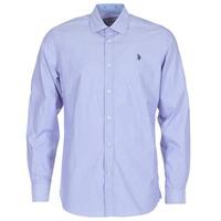 Clothing Men long-sleeved shirts U.S Polo Assn. RUSTY Marine