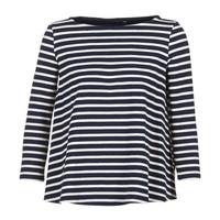 Clothing Women Tops / Blouses Petit Bateau LAURENI White / Marine
