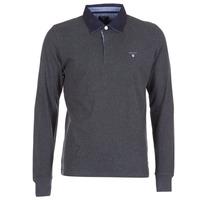Clothing Men long-sleeved polo shirts Gant THE ORIGINAL HEAVY RUGGER Grey