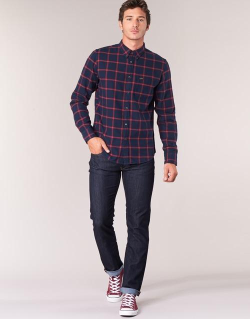 Clothing Men straight jeans Lee DAREN Blue / Raw