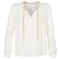 Clothing Women Tops / Blouses MICHAEL Michael Kors SLIT L/S CHAIN Cream