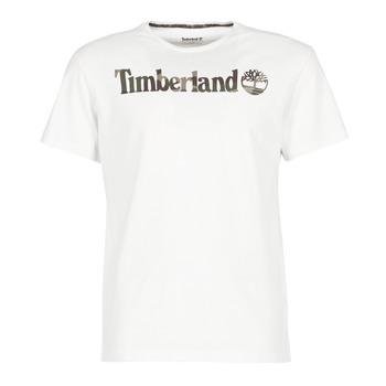 Clothing Men short-sleeved t-shirts Timberland DUNSTAN RIVER CAMO PRINT White
