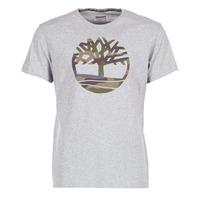 Clothing Men short-sleeved t-shirts Timberland DUNSTAN RIVER CAMO PRINT Grey