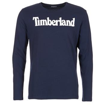 Clothing Men Long sleeved tee-shirts Timberland LINEAR LOGO PRINT RINGER MARINE