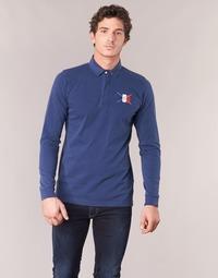 Clothing Men long-sleeved polo shirts Serge Blanco POCHON Marine