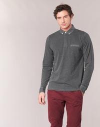 Clothing Men long-sleeved polo shirts Serge Blanco POCHA Black / Grey