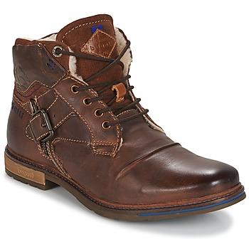 Shoes Men Mid boots Bugatti LENIL Brown / Dark