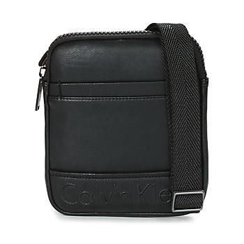 Bags Men Pouches / Clutches Calvin Klein Jeans BENNET MINI FLAT CROSSOVER Black