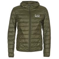Clothing Men Duffel coats Emporio Armani EA7 TRAIN CORE ID DOWN LIGHT HD Kaki
