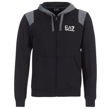 Clothing Men sweatpants Emporio Armani EA7 TRAIN TRITONAL M HOODIE FZ Black