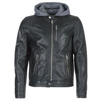 Clothing Men Leather jackets / Imitation leather Oakwood 62579 Black