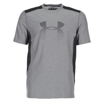 Clothing Men short-sleeved t-shirts Under Armour UA RAID GRAPHIC SS Grey / Black