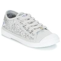 Shoes Girl Low top trainers Le Temps des Cerises BROOK Silver