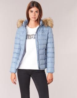 Clothing Women Duffel coats Tommy Jeans THDW BASIC DOWN JACKET Blue